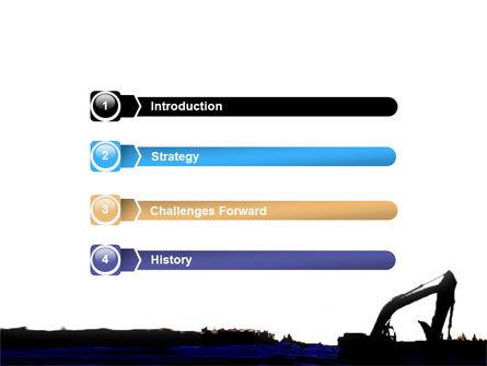 Power Shovel PowerPoint Template, Slide 3, 06299, Utilities/Industrial — PoweredTemplate.com
