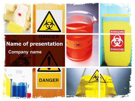 Health Risk PowerPoint Template, 06301, Technology and Science — PoweredTemplate.com