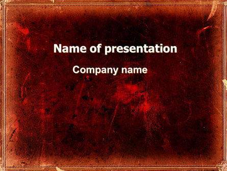 Red Grunge PowerPoint Template, 06302, Abstract/Textures — PoweredTemplate.com