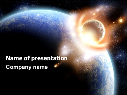 Nature & Environment: Big Bang Crash PowerPoint Template #06306