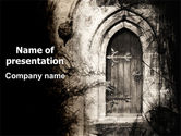 Art & Entertainment: Old Door PowerPoint Template #06307