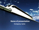 Cars and Transportation: Monorail PowerPoint Template #06309