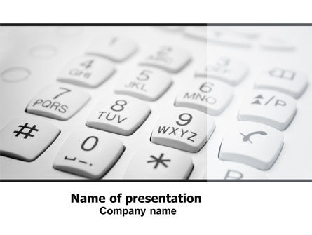 Telecommunication: Phone Dial Pad PowerPoint Template #06310