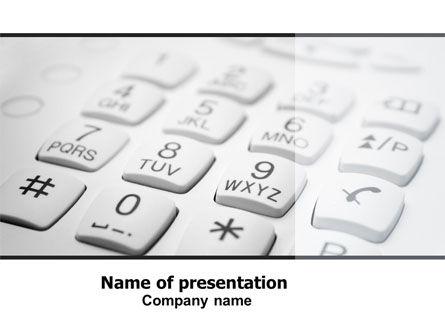 Telecommunication: Modelo do PowerPoint - teclado de discagem do telefone #06310