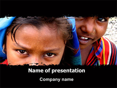 Children Around The World PowerPoint Template, 06312, People — PoweredTemplate.com