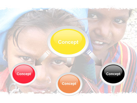Children Around The World PowerPoint Template, Slide 4, 06312, People — PoweredTemplate.com