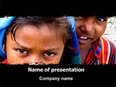 People: Children Around The World PowerPoint Template #06312