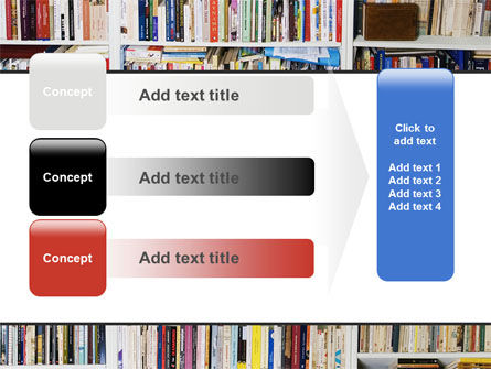 Book Shelves PowerPoint Template Slide 12