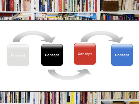Book Shelves PowerPoint Template Slide 4