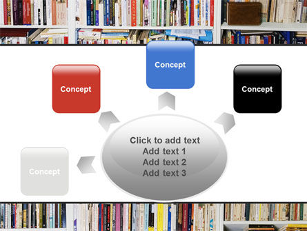 Book Shelves PowerPoint Template Slide 7
