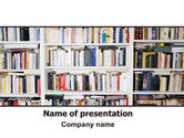 Education & Training: Book Shelves PowerPoint Template #06313