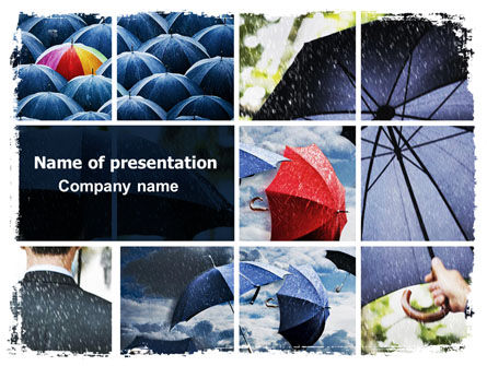 Umbrella Mania PowerPoint Template, 06314, Consulting — PoweredTemplate.com