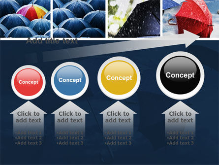 Umbrella Mania PowerPoint Template Slide 13
