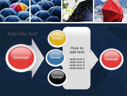 Umbrella Mania PowerPoint Template Slide 17