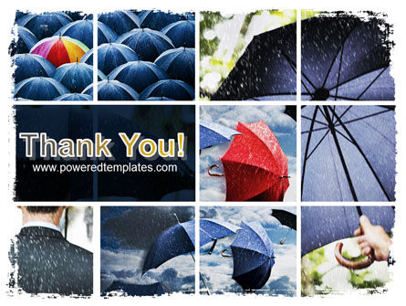 Umbrella Mania PowerPoint Template Slide 20
