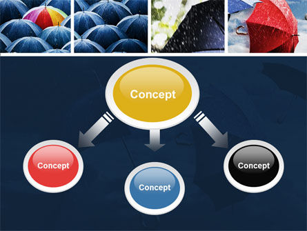 Umbrella Mania PowerPoint Template, Slide 4, 06314, Consulting — PoweredTemplate.com