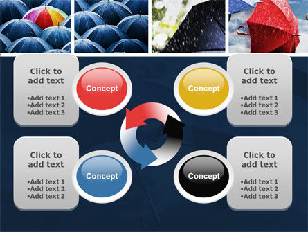 Umbrella Mania PowerPoint Template Slide 9