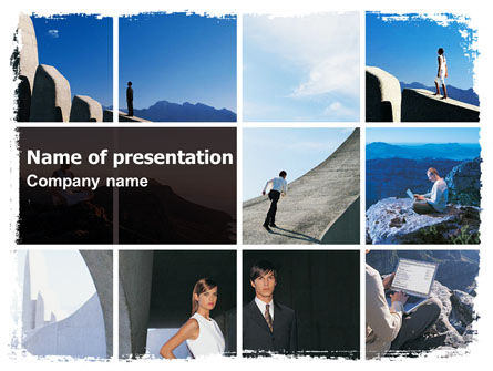 Business Climbing Lifestyle PowerPoint Template