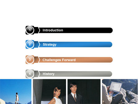 Business Climbing Lifestyle PowerPoint Template, Slide 3, 06316, Business — PoweredTemplate.com
