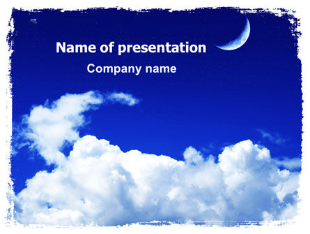 New Moon PowerPoint Template, 06318, Nature & Environment — PoweredTemplate.com