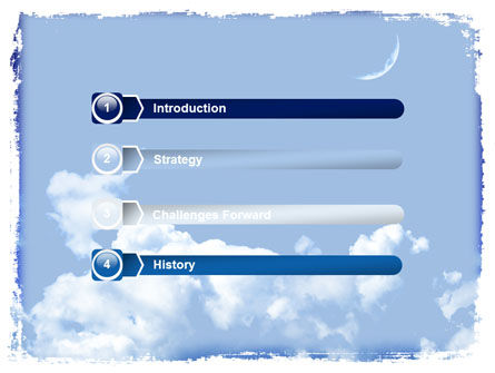 New Moon PowerPoint Template, Slide 3, 06318, Nature & Environment — PoweredTemplate.com
