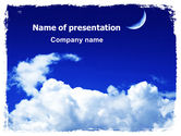 Nature & Environment: New Moon PowerPoint Template #06318