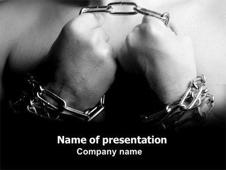 Consulting: Chained Man PowerPoint Template #06319