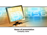 Computers: Computer Media PowerPoint Template #06320