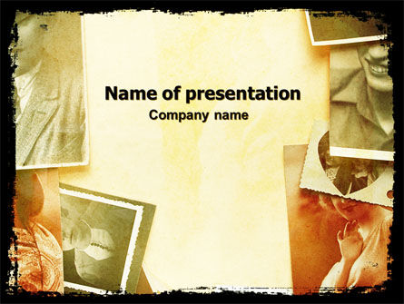 Vintage Photo Frame PowerPoint Template, 06322, Careers/Industry — PoweredTemplate.com
