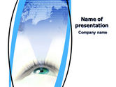 Business Concepts: Digital Eye PowerPoint Template #06323