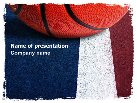 Basketball Ball PowerPoint Template, 06326, Sports — PoweredTemplate.com