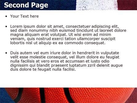 Basketball Ball PowerPoint Template, Slide 2, 06326, Sports — PoweredTemplate.com
