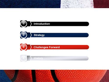 Basketball Ball PowerPoint Template, Slide 3, 06326, Sports — PoweredTemplate.com