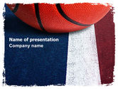 Sports: Basketball Ball PowerPoint Template #06326