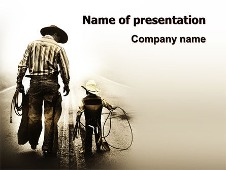 America: Cowboy Kid PowerPoint Template #06327