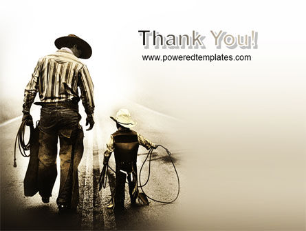 Cowboy Kid PowerPoint Template Slide 20
