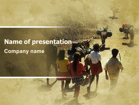Child Labor In A Poor Country PowerPoint Template, 06328, People — PoweredTemplate.com