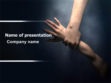 Rescue Hand PowerPoint Template, 06330, Religious/Spiritual — PoweredTemplate.com
