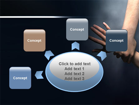 Rescue Hand PowerPoint Template Slide 7