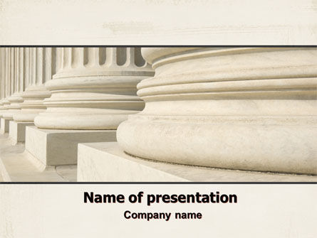 Construction: Doric Columns PowerPoint Template #06332