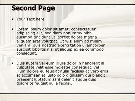 Doric Columns PowerPoint Template, Slide 2, 06332, Construction — PoweredTemplate.com