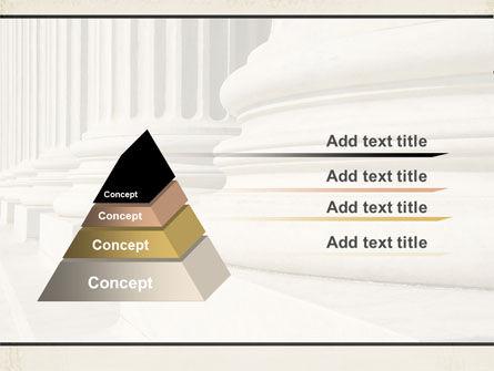 Doric Columns PowerPoint Template, Slide 4, 06332, Construction — PoweredTemplate.com