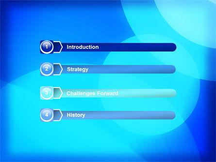 Blue Geometry Free PowerPoint Template Slide 3