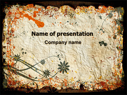 Grunge Autumn Theme PowerPoint Template