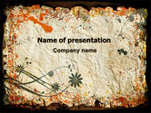 Abstract/Textures: Grunge Autumn Theme PowerPoint Template #06337