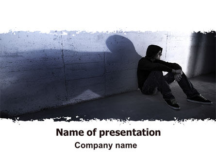 People: Lonely Man PowerPoint Template #06338