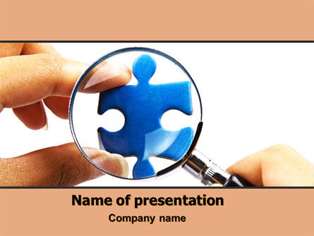 Consulting: Jigsaw Close-Up PowerPoint Template #06340
