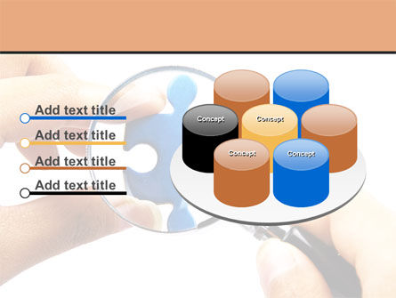 Jigsaw Close-Up PowerPoint Template Slide 12