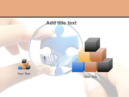 Jigsaw Close-Up PowerPoint Template Slide 13