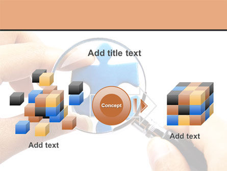 Jigsaw Close-Up PowerPoint Template Slide 17
